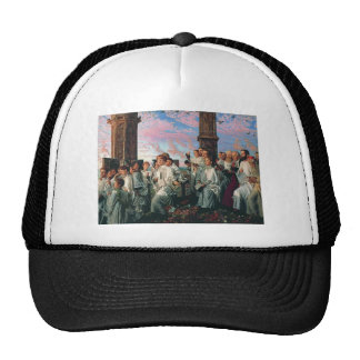 William Hunt-May Morning on Magdalen College Tower Trucker Hat