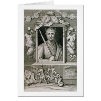 William I the Conqueror (1027-87) King of England Greeting Card