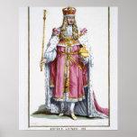 William III (1650-1702) of Orange, 1780 (coloured Poster