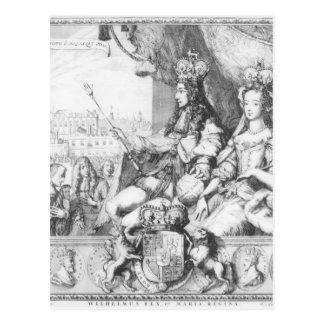 William III  and Mary II Postcard