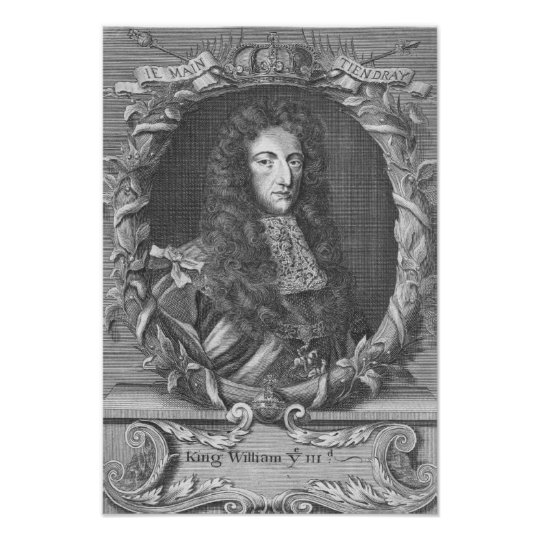 William III  Stadholder and King of England Poster