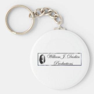 """""""William J. Durkin Pro."""" Basic Round Button Keychain"""