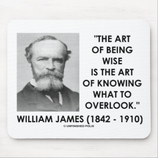 William James Art Of Being Wise Art To Overlook Mouse Pad