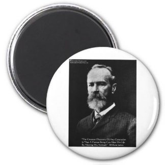 "William James ""Attitude"" Wisdom Quote Gifts & Card Magnet"