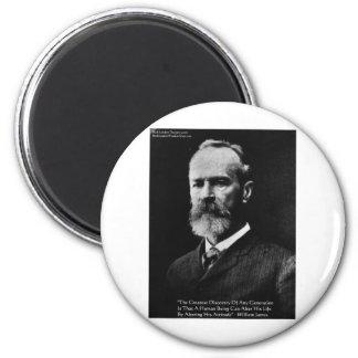 "William James ""Attitude"" Wisdom Quote Gifts & Card Magnet"