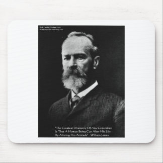 """William James """"Attitude"""" Wisdom Quote Gifts & Card Mouse Pad"""