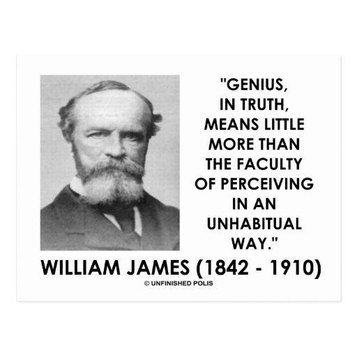 William James Genius Perceiving An Unhabitual Way Postcard