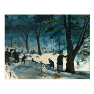 William James Glackens Central Park Winter Postcard