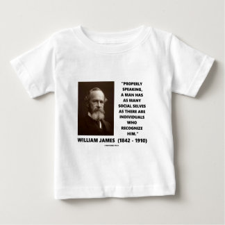 William James Many Social Selves Quote Baby T-Shirt