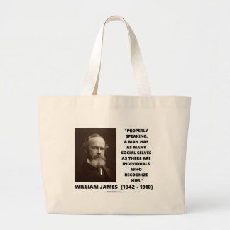 William James Many Social Selves Quote Canvas Bags