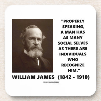 William James Many Social Selves Quote Drink Coasters