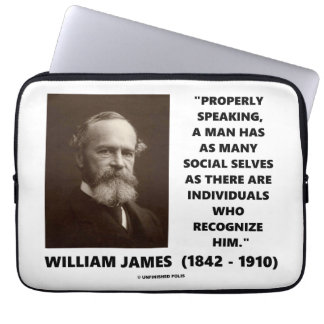 William James Many Social Selves Quote Laptop Sleeve