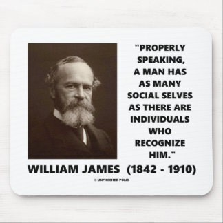 William James Many Social Selves Quote Mouse Pad