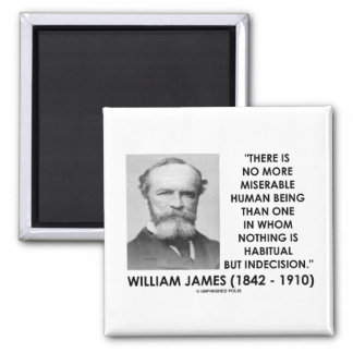William James Miserable Human Being Indecision Magnet