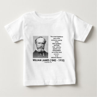 William James Moral Flabbiness Worship Success Tee Shirt