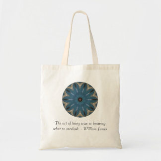 William James Quote With Primative Tribl Design Canvas Bags