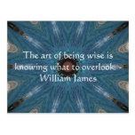 William James Quote With Primative Tribl Design Post Card