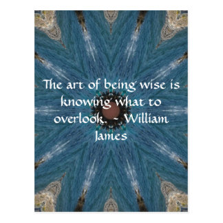 William James Quote With Primative Tribl Design Postcard