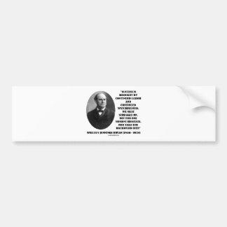 William Jennings Bryan Success Labor Watchfulness Bumper Sticker