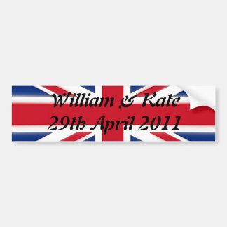 William & Kate - 29th April 2011 Car Bumper Sticker