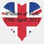 William & Kate - 29th April 2011 Heart Sticker