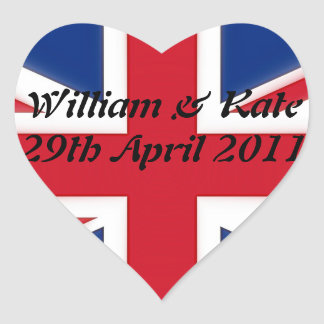 William & Kate - 29th April 2011 Heart Sticker
