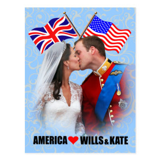 William & Kate - America Postcard