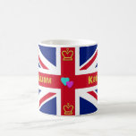 William & Kate British Flag Coffee Mugs
