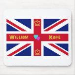 William & Kate British Flag Mousepads
