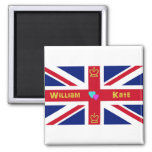 William & Kate British Flag Refrigerator Magnets