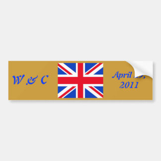 William & Kate Bumper Sticker