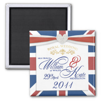 William & Kate - Commemorative Wedding Magnets