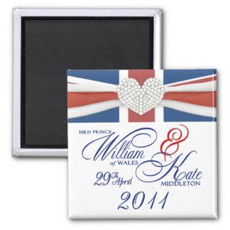 William & Kate - Commemorative Wedding Magnets