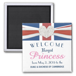 William & Kate - Royal Baby Commemorative Gift Magnet