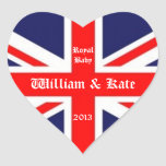 William & Kate/Royal Baby-Union Jack Stickers