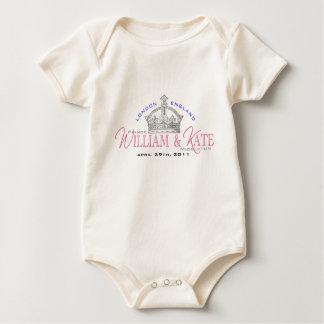 William & Kate Royal Wedding Baby Bodysuit