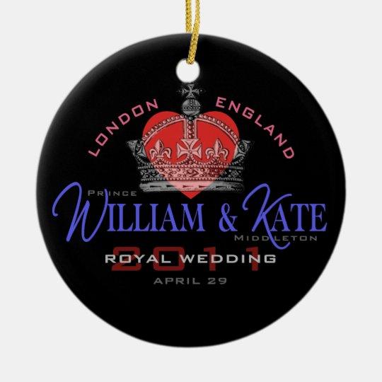 William & Kate Royal Wedding Ceramic Ornament