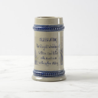 William & Kate Royal Wedding Collectibles Souvenir Beer Stein