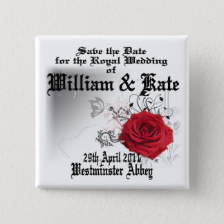 William & Kate Royal Wedding Collectibles Souvenir Button