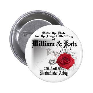 William Kate Royal Wedding Collectibles Souvenir Pinback Button