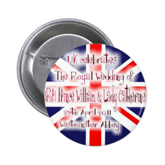William & Kate Royal Wedding Collectibles Souvenir 2 Inch Round Button