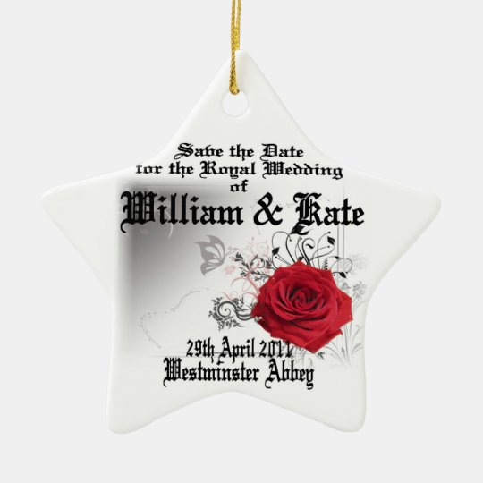 William & Kate Royal Wedding Collectibles Souvenir Ceramic Ornament