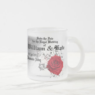 William & Kate Royal Wedding Collectibles Souvenir Frosted Glass Coffee Mug