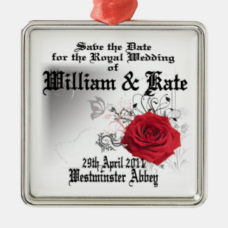 William & Kate Royal Wedding Collectibles Souvenir Metal Ornament