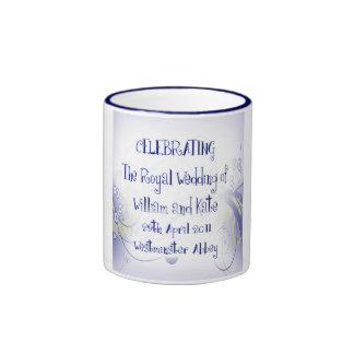 William & Kate Royal Wedding Collectibles Souvenir Ringer Coffee Mug