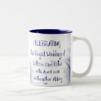 William & Kate Royal Wedding Collectibles Souvenir Two-Tone Coffee Mug