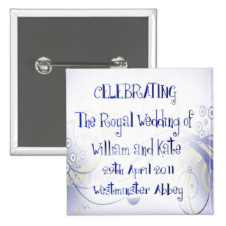 William & Kate Royal Wedding Collectibles Souvenir Pinback Button