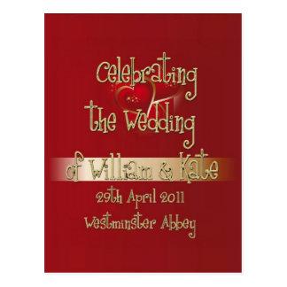 William & Kate Royal Wedding Collectibles Souvenir Postcard