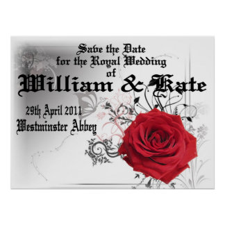 William & Kate Royal Wedding Collectibles Souvenir Poster