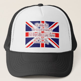 William & Kate Royal Wedding Collectibles Souvenir Trucker Hat